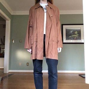 Adrienne Vittadini camel caramel trench coat